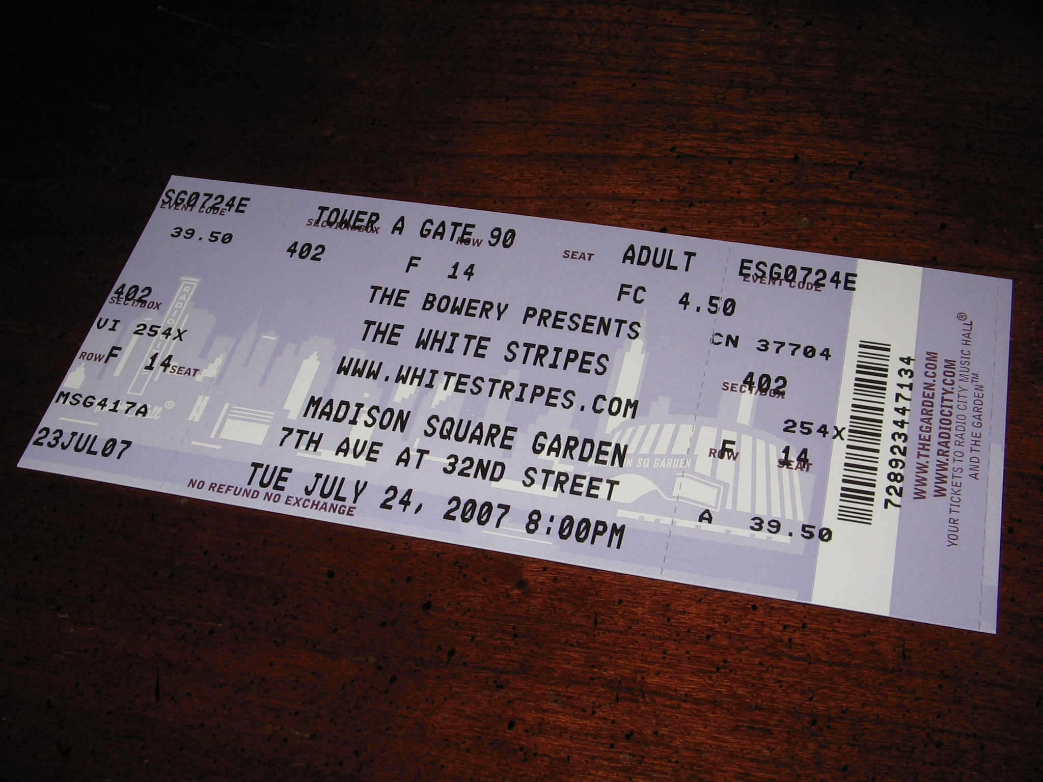 Amazing I Think I Bought Fake Tickets MSG Archive Foo Fighters Nice Look